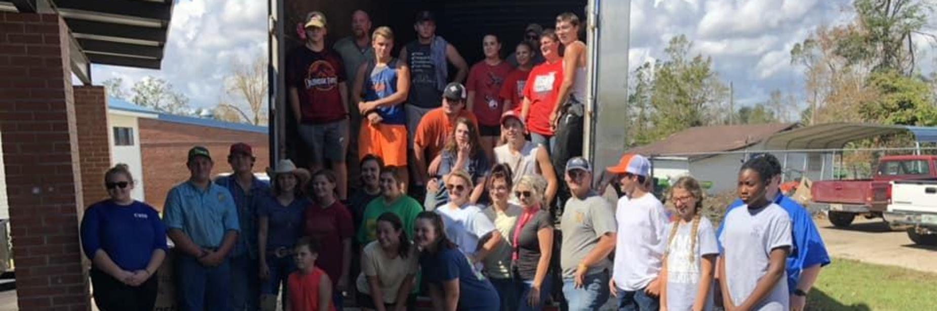 Students helping with Disaster Relief Efforts