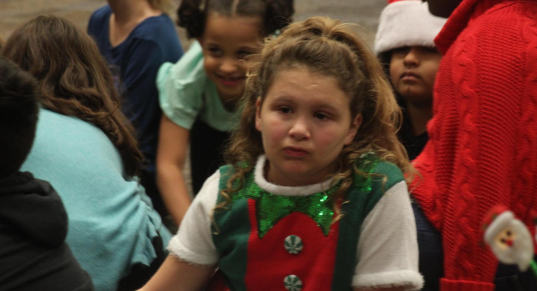 Waiting to sing at Christmas Program.