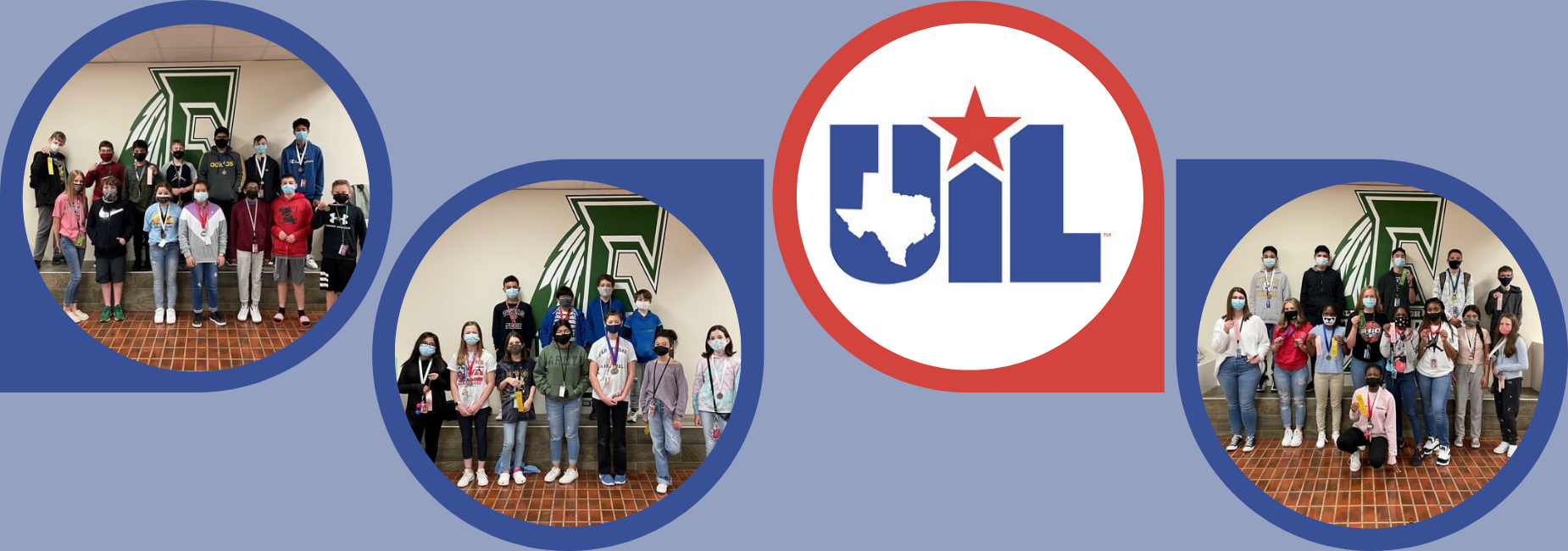 collage of pictures of groups of junior high UIL competitors