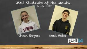 JSMS October 2018 Students of the Month