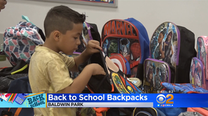 CBS Los Angeles highlighted the ninth annual Backpack and School Supply Donation Campaign through a District partnership with Kaiser Permanente Baldwin Park.