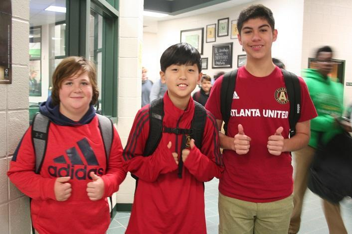 BMS Students Supporting Atlanta United