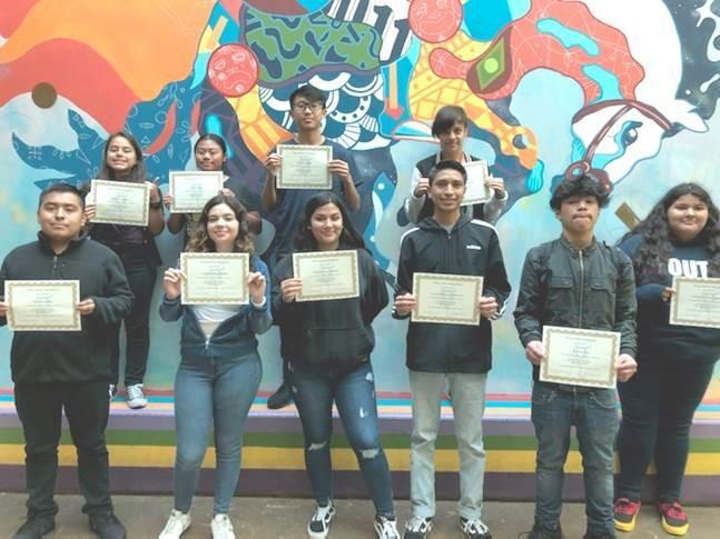VAHS Students of the Month - 12/19