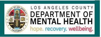 LOS ANGELES COUNTY - DEPARTMENT OF MENTAL HEALTH