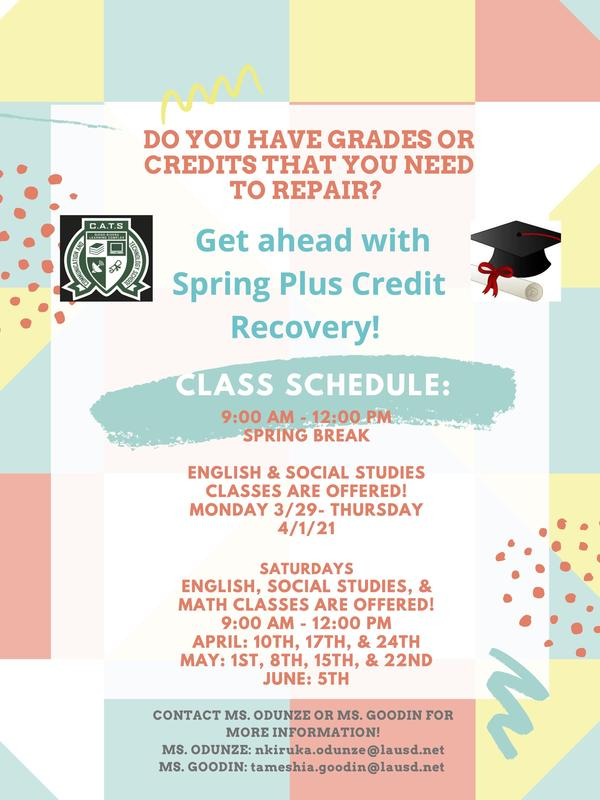 Spring Plus Credit Recovery! Featured Photo