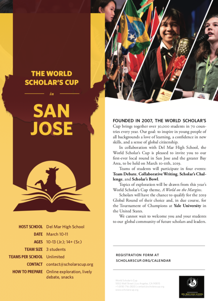 Image of World Scholar's Cup San Jose Competition at Del Mar on March 10-11, 2019
