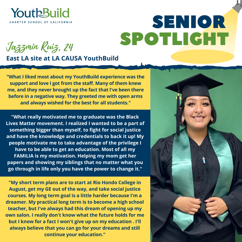 Senior Spotlight for graduate Jazzmin Ruiz