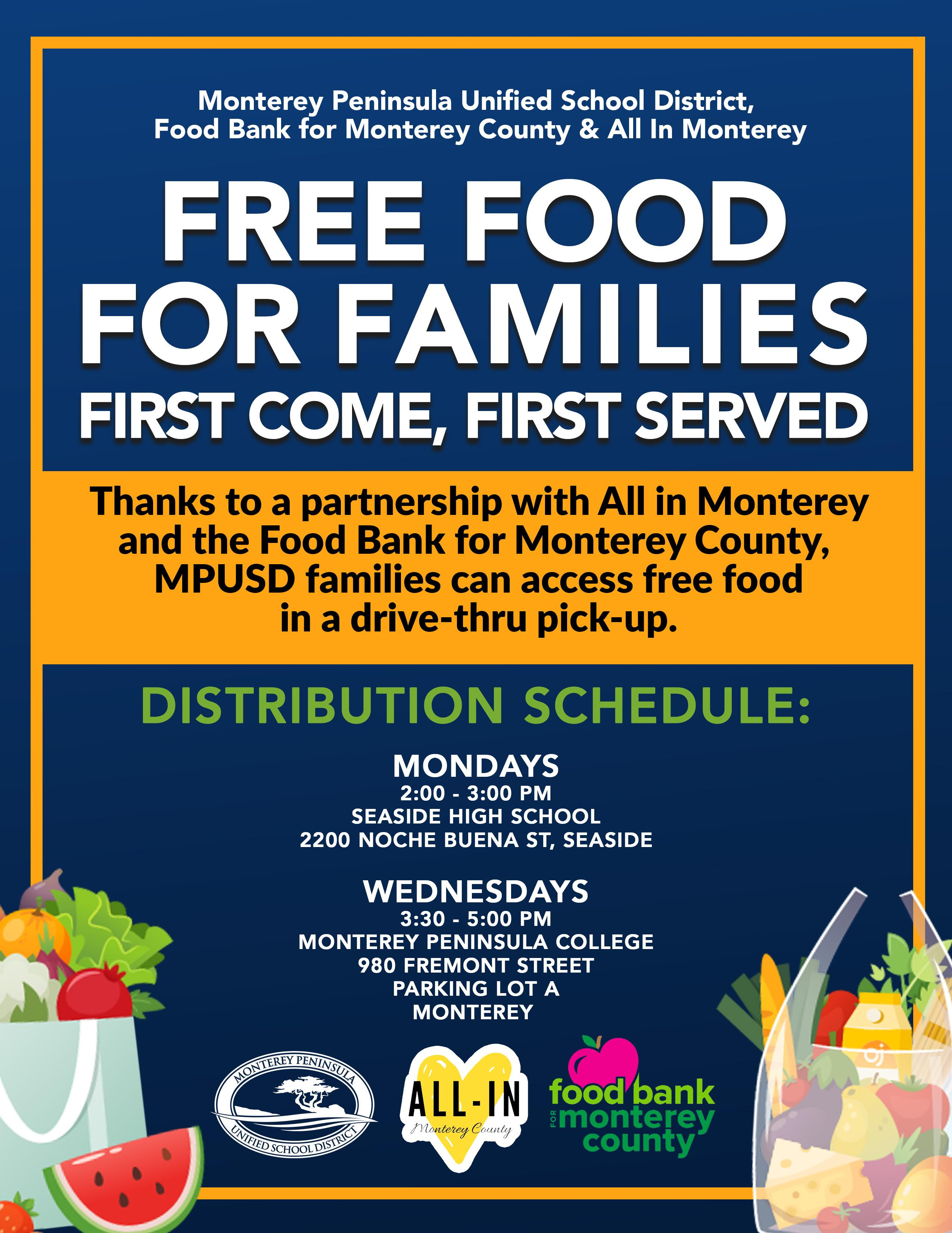 Free Food for Families Flyer