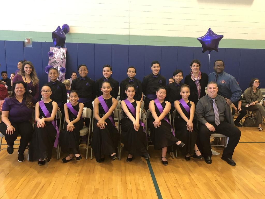 Washington NJPAC Ballroom Team group photo with teachers and advisors