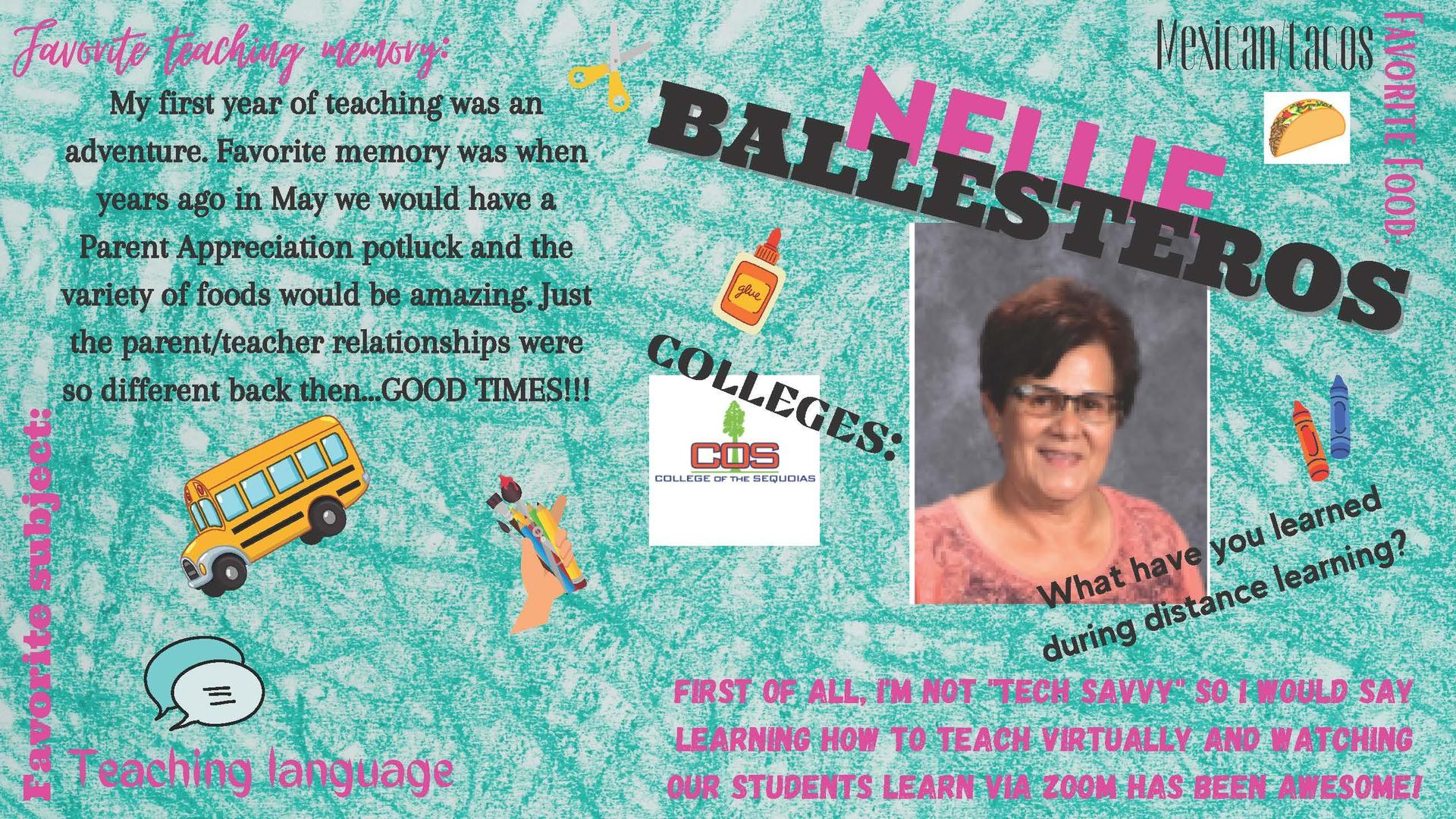 Nellie Ballesteros Staff member of the week