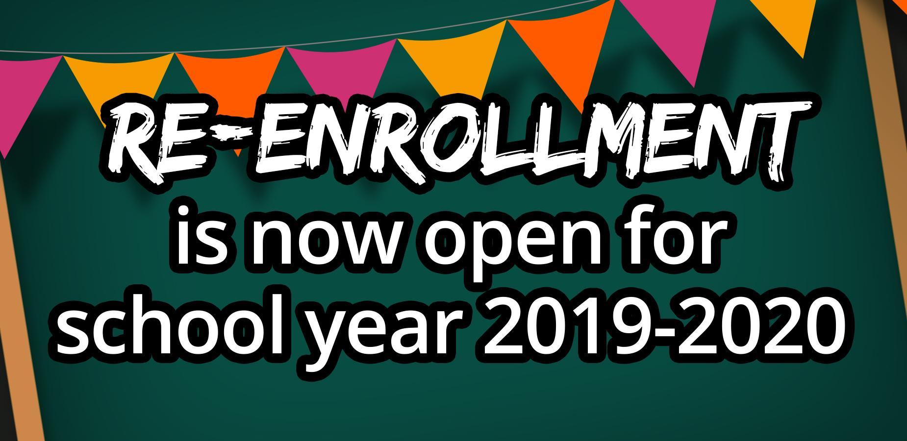 Re-Enrollment for 2019-20