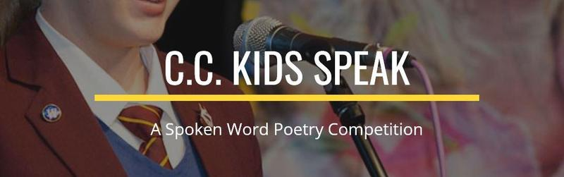 C.C. Kids Speak- A Spoken Word Poetry Competition! Featured Photo