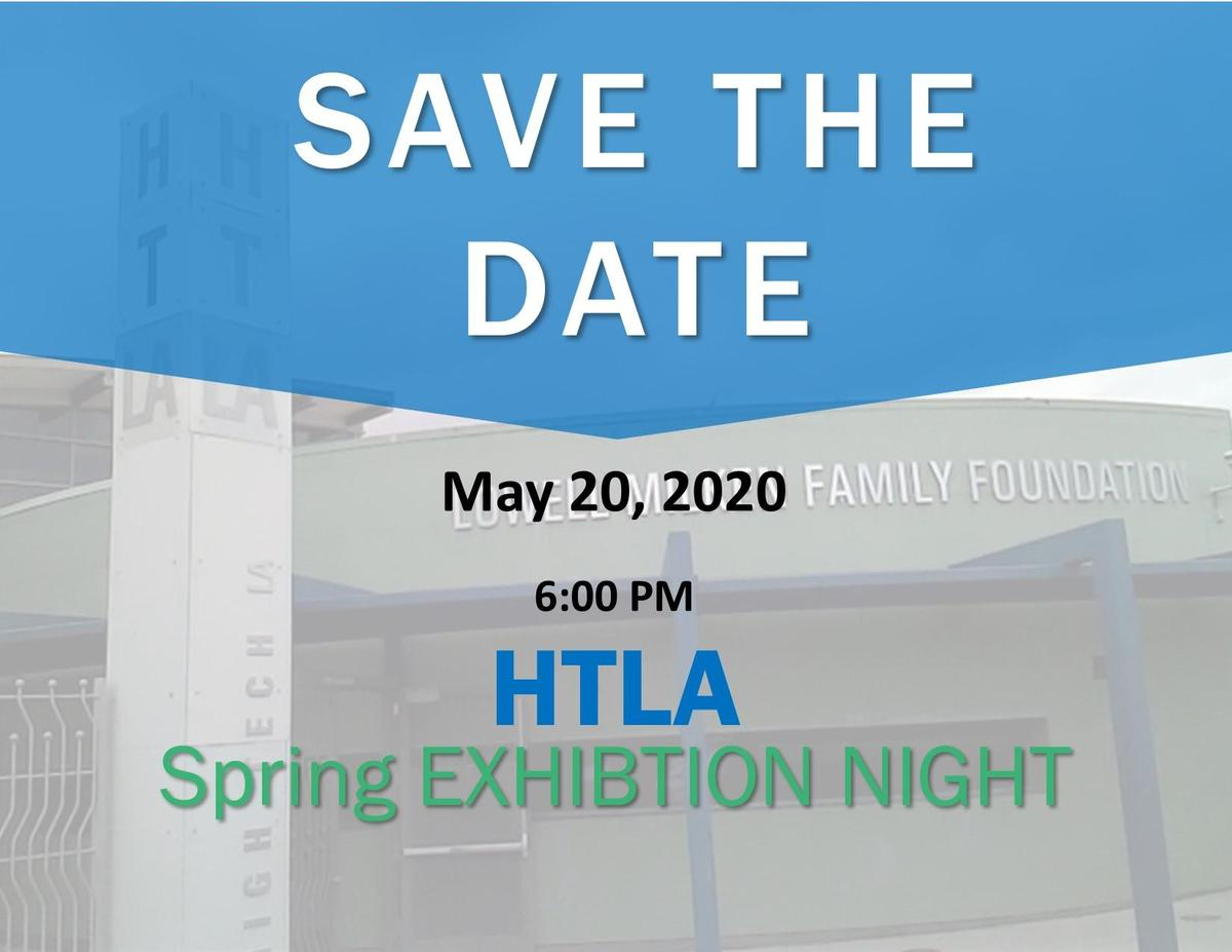 Save the date HTLA spring exhibition May 20, 2020