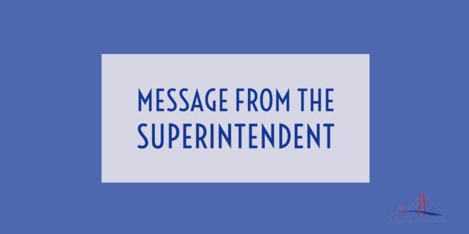 Superintendent Message!!! Featured Photo