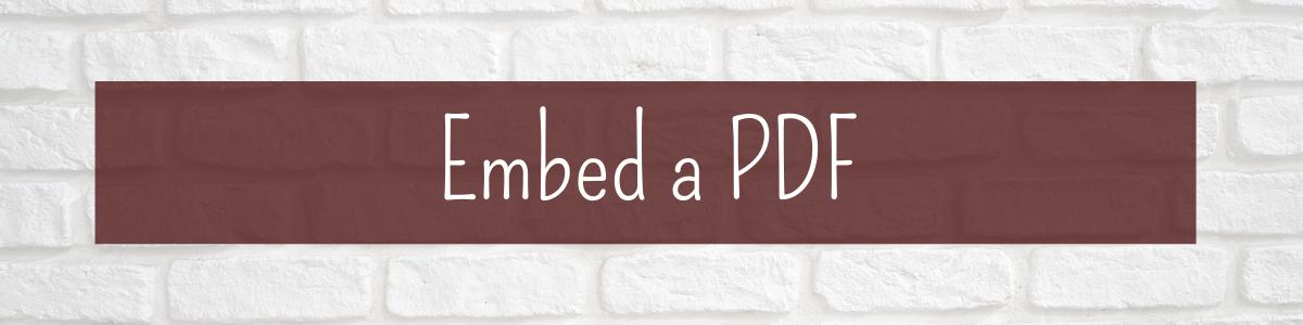 embed a PDF
