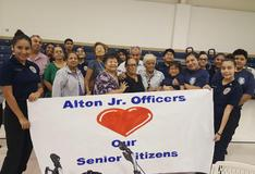 AMJH Jr Officers' Feast of Joy with our local senior citizens