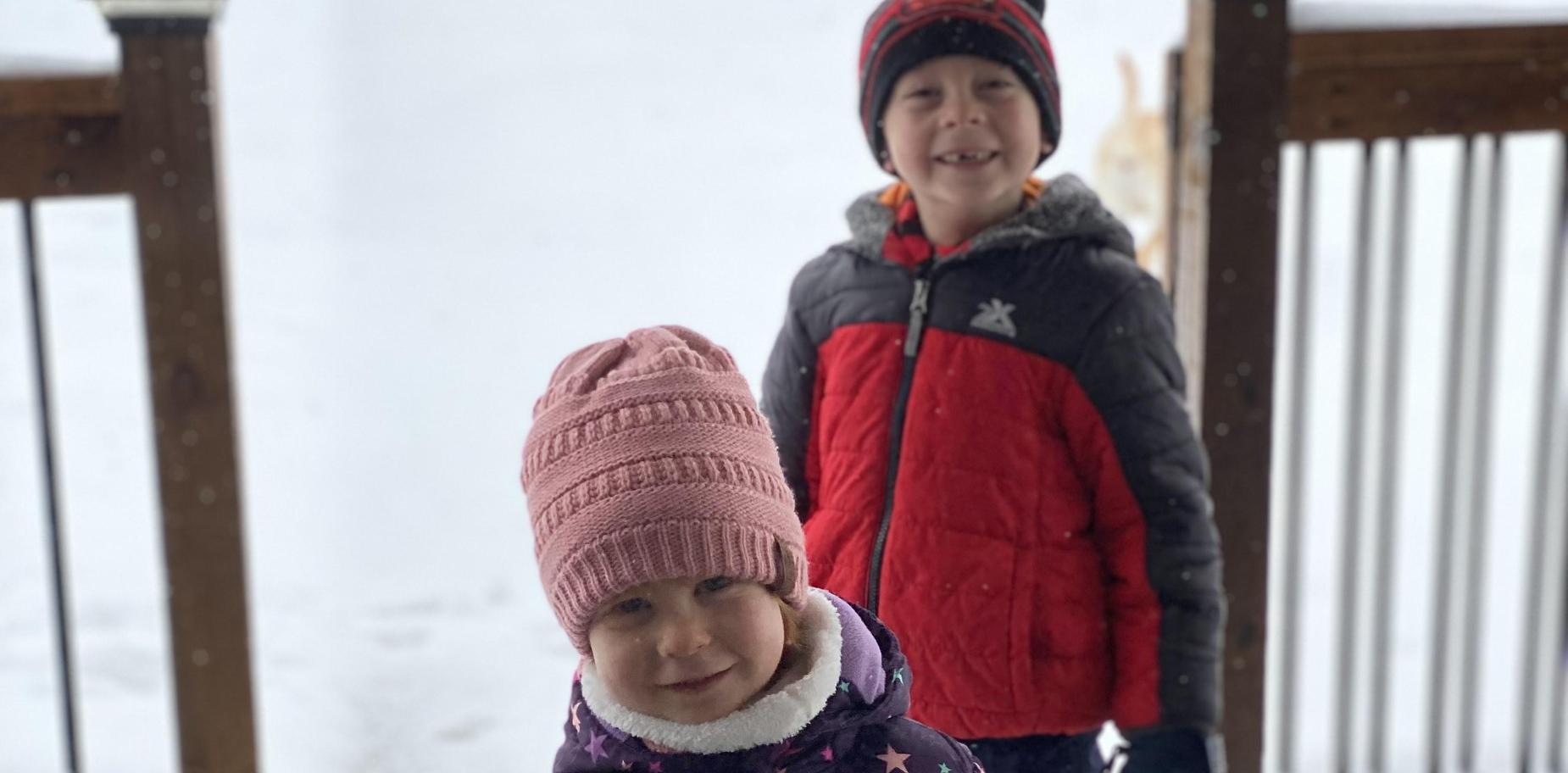 picture of kids playing in snow