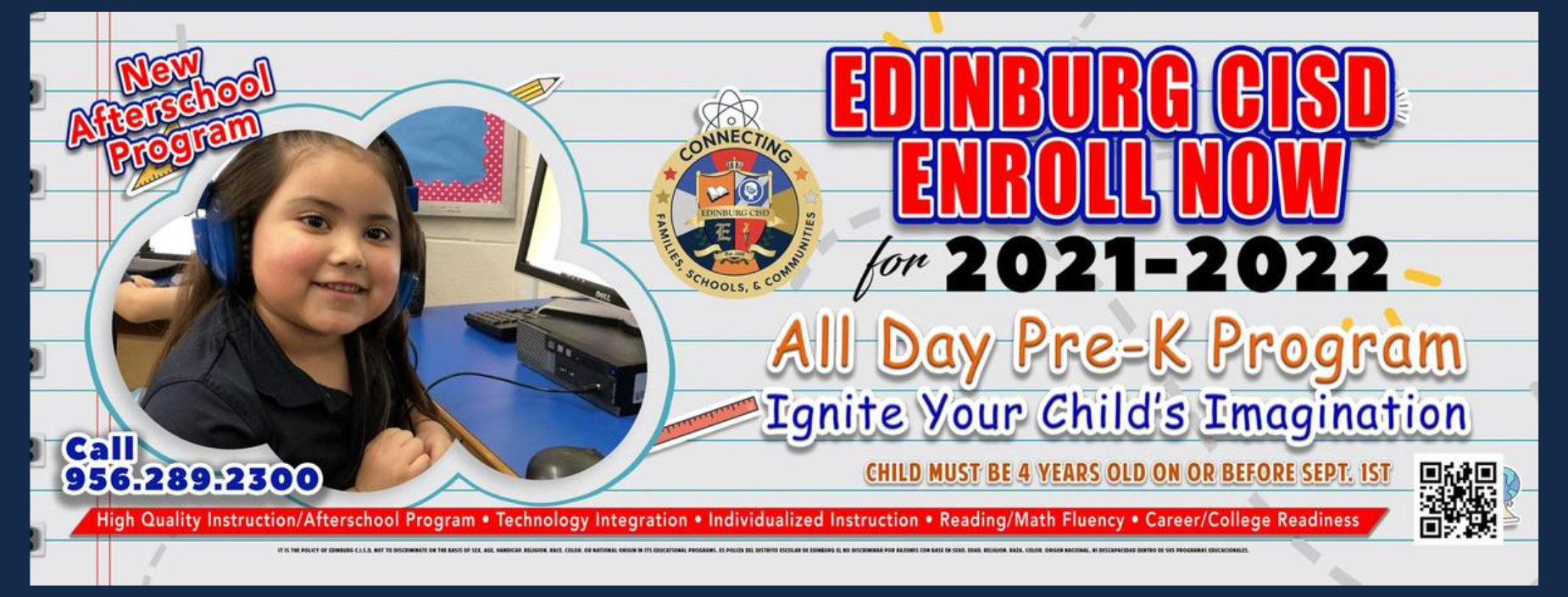 Click here to enroll in All day Pre-K Program