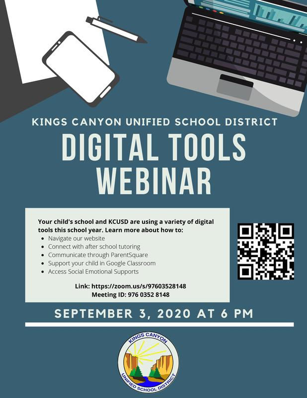 Digital Tools Webinar flyer