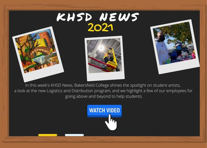 KHSD News for January 8, 2021: Student art on display, we take a look at new Logistics and Distribution program, and more highlights from around the District Thumbnail Image