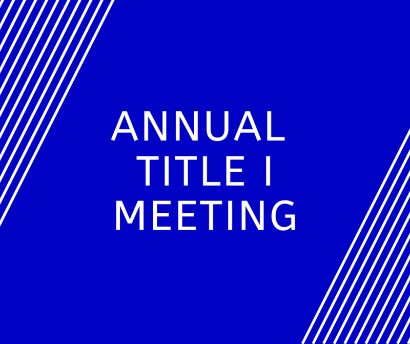 Annual Title I Meeting Featured Photo