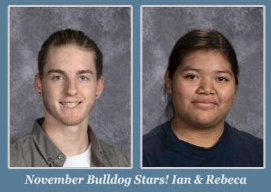 Ian and Rebeca, November Students of the Month