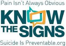 know the signs for suicide prevention photo