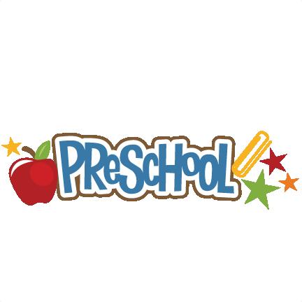 clipart of word preschool