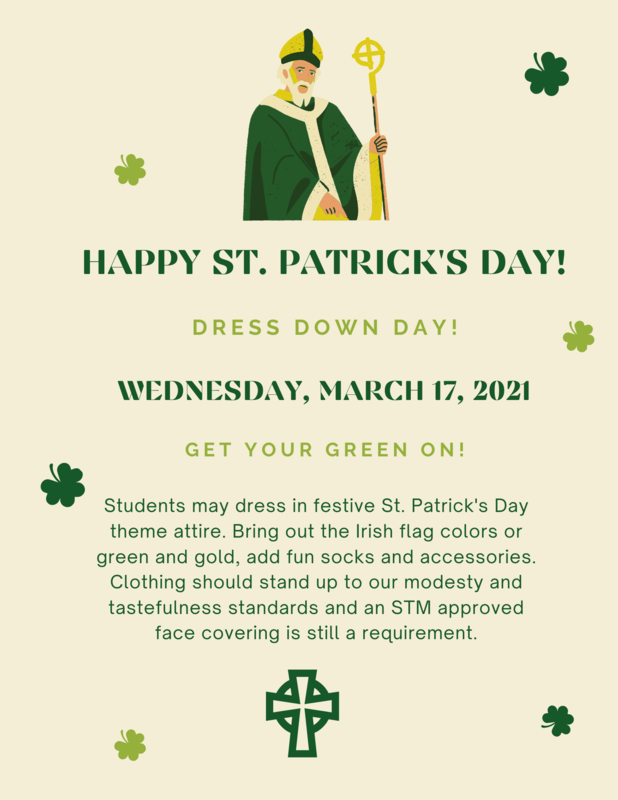 St. Patrick's Day Dress Down Day Flyer.png