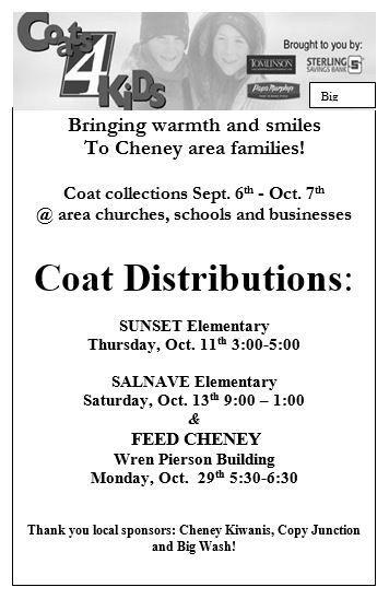 Cheney Coat Drive flier