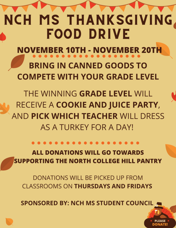 MS Canned Food Drive Poster