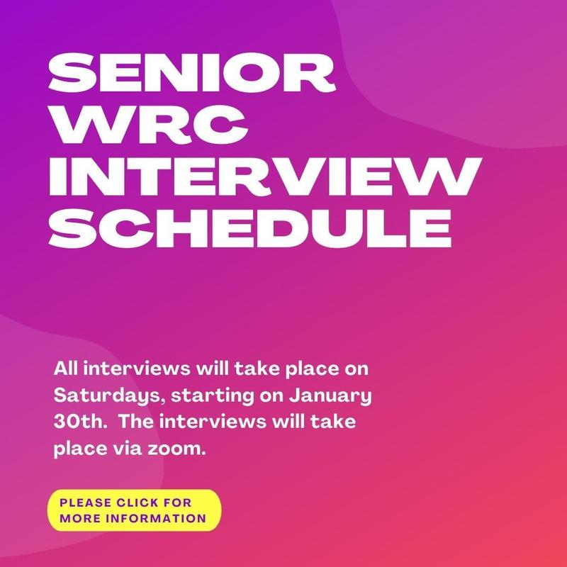 Attention Seniors: Please See Important Information Regarding WRC Interviews Featured Photo