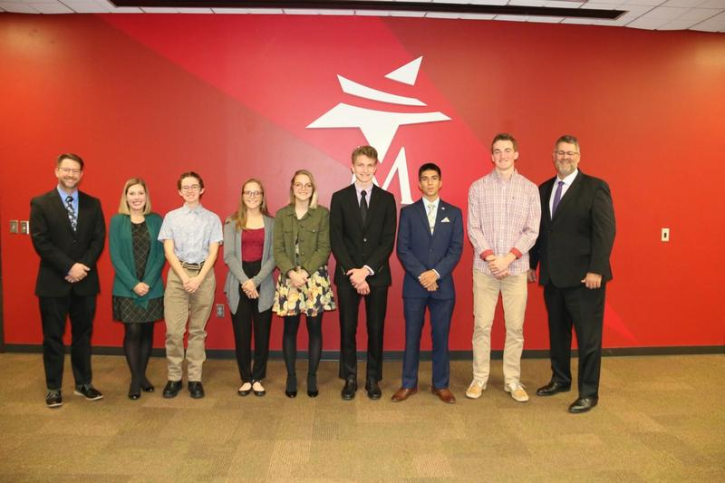 National Merit Students were recognized at Monday night's Board meeting