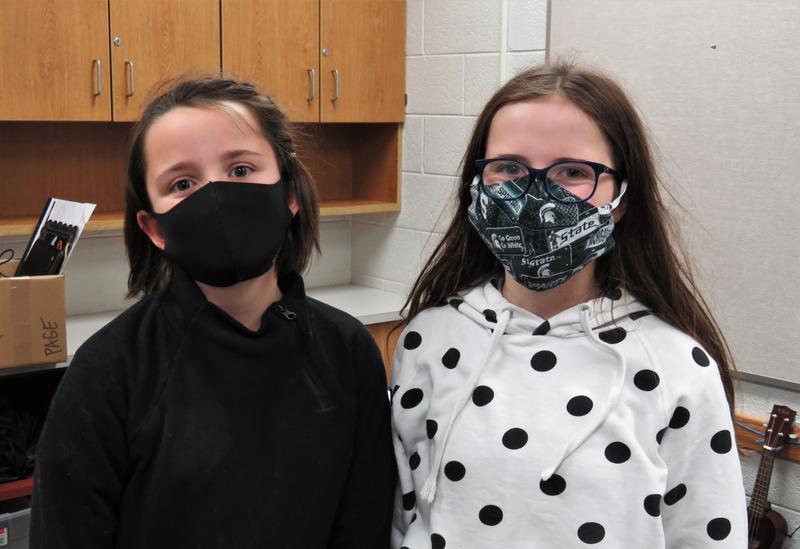 Morgan and Karsyn Boersma at Page Elementary.