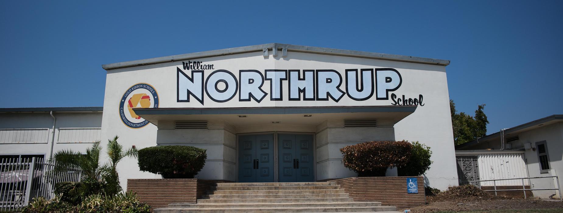 Northrup School Artwork along Auditorium