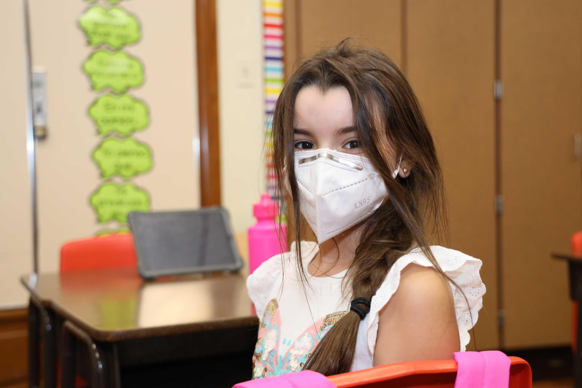 Deepwater Elementary students return to school