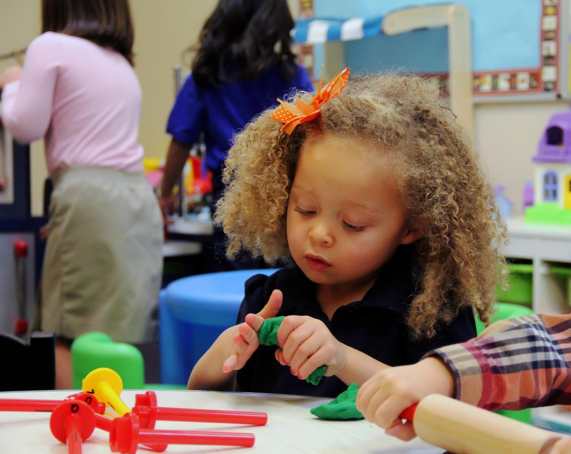 preschool student playing