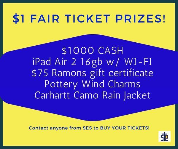everyone GRAB some $1 FAIR raffle tickets! Featured Photo