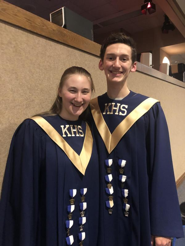 pic of Dori Shearer and Brady Collins in choir robes
