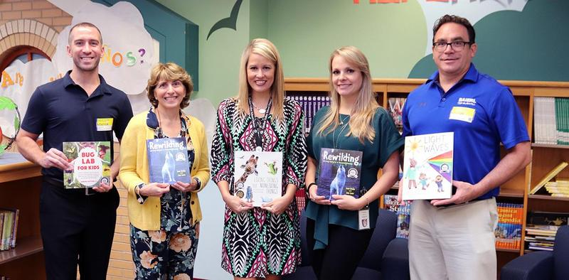 Books being donated to QVSD