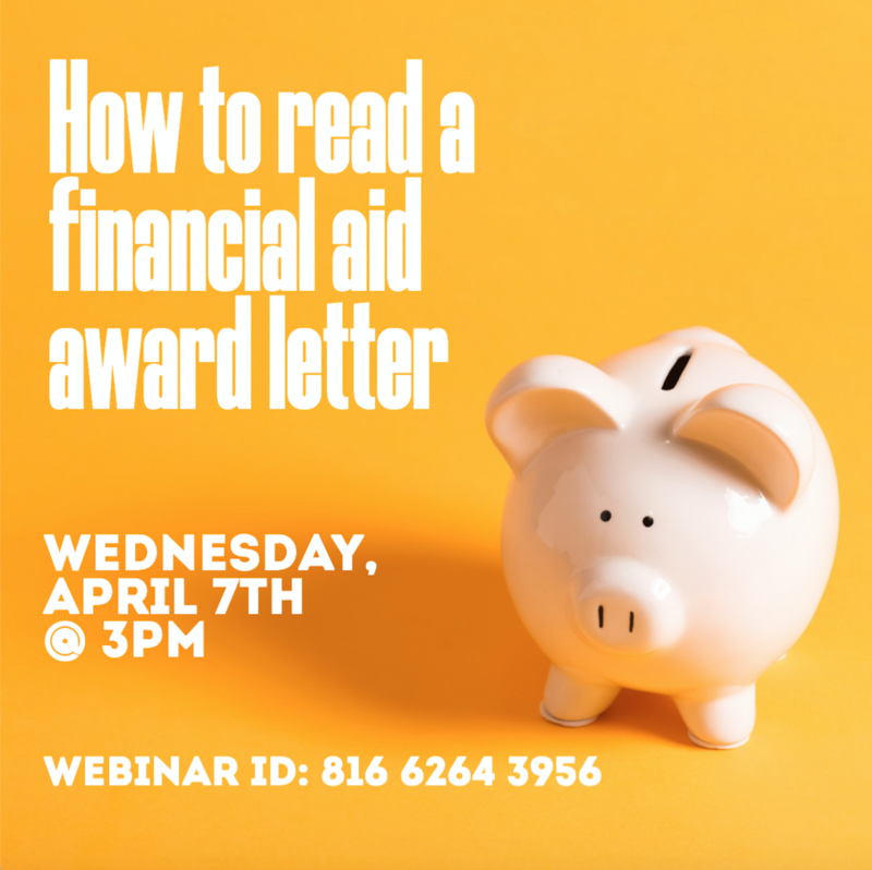How to read a financial aid award letter