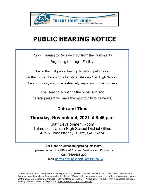 Public Hearing English