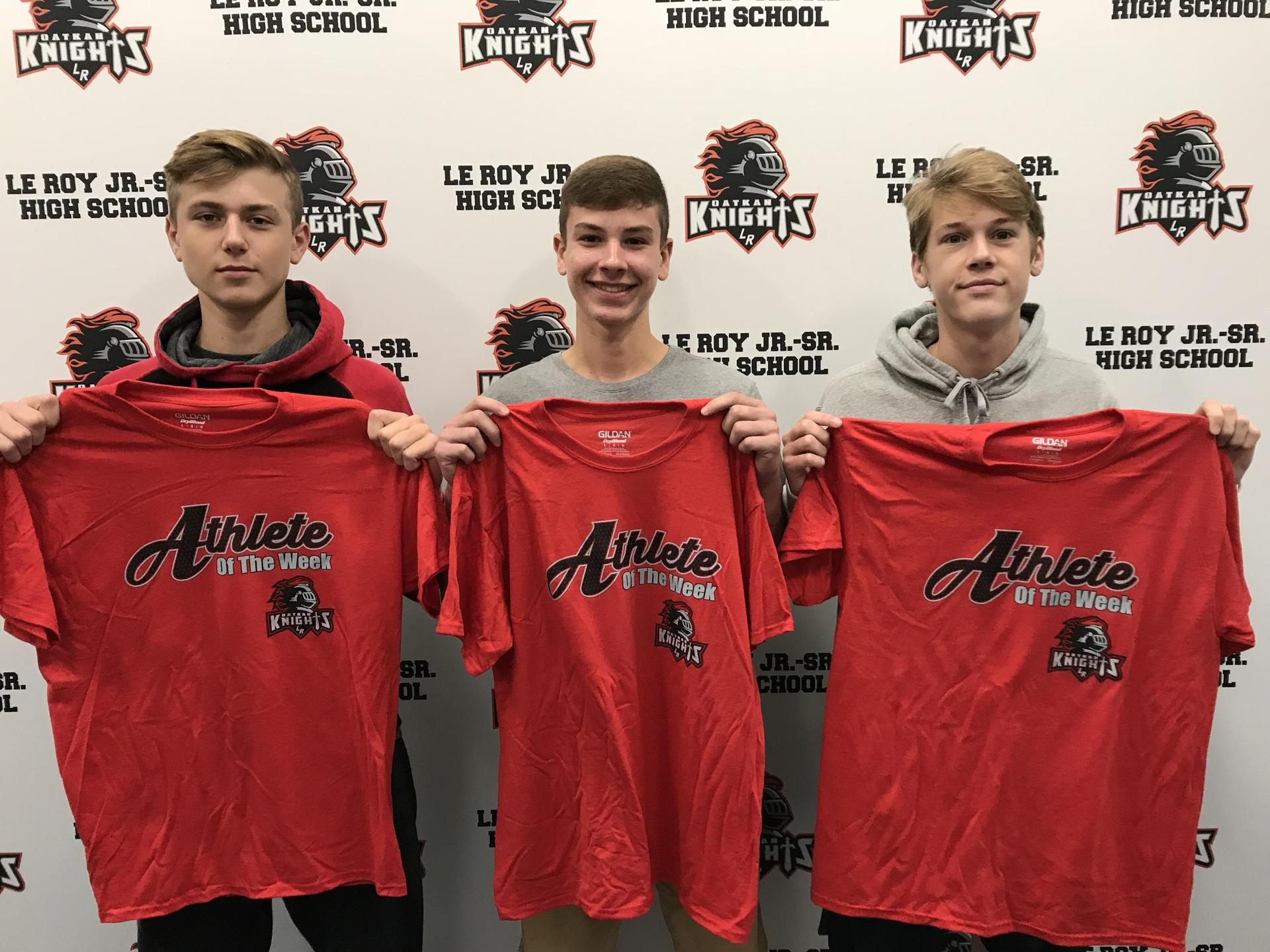 Athletes of the Week - C Lytle, A Loftus, E Smith