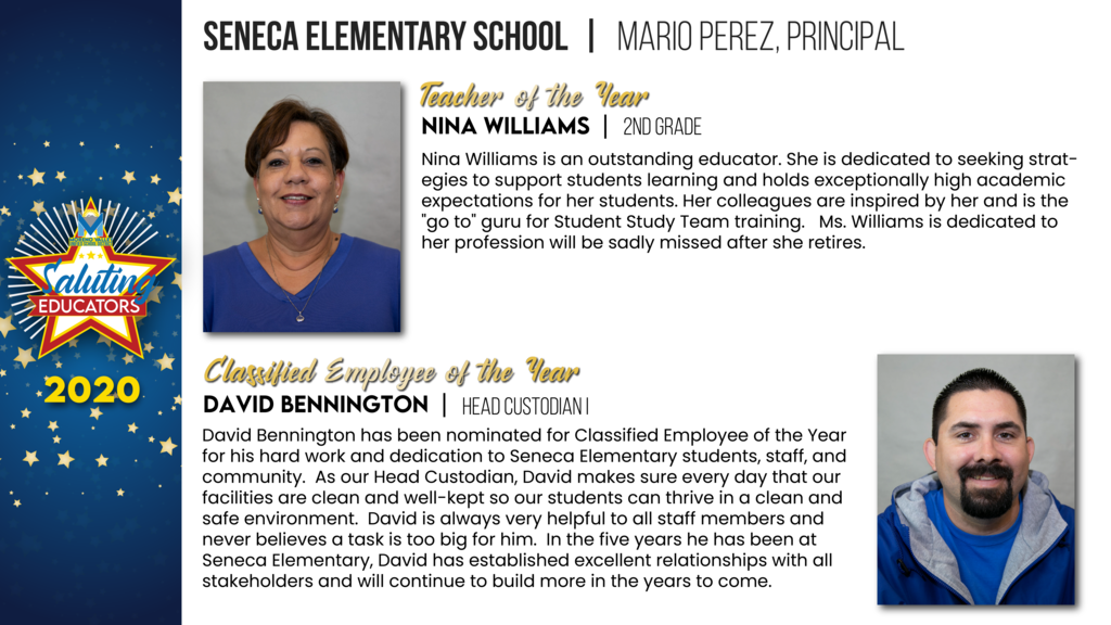 Seneca Elementary Employees of the Year