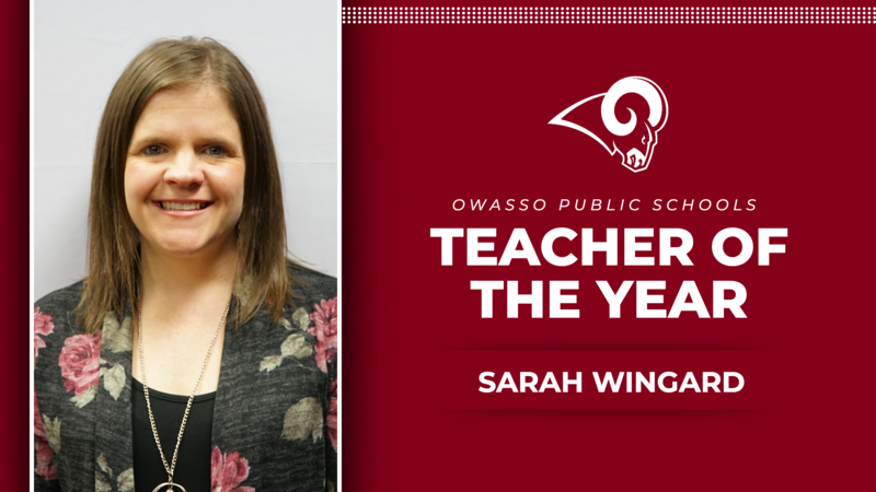 Teacher of the Year - Sarah Wingard