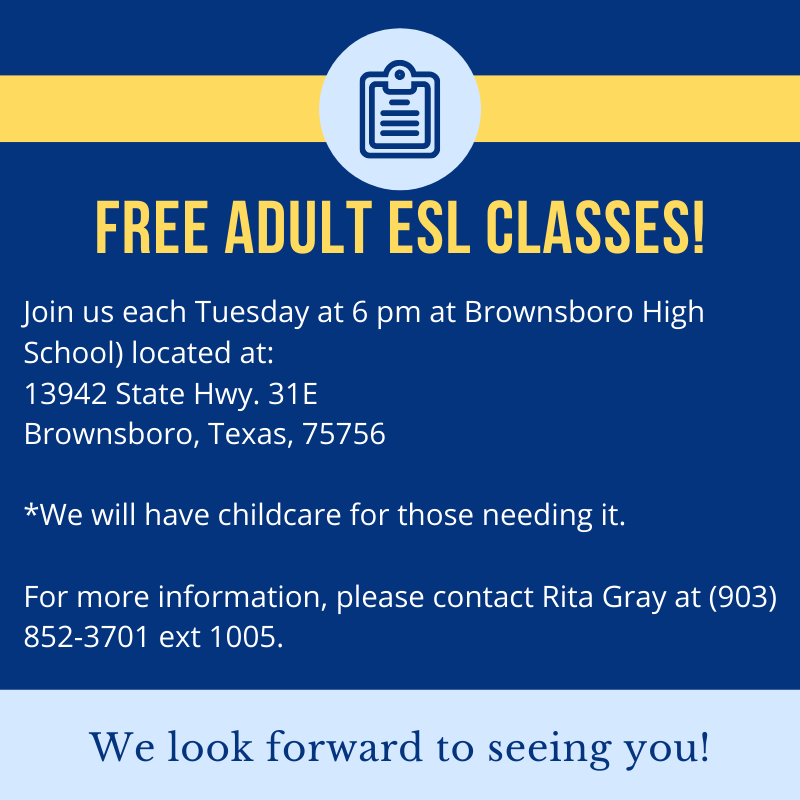 Free Adult ESL Classes at Brownsboro High School Featured Photo