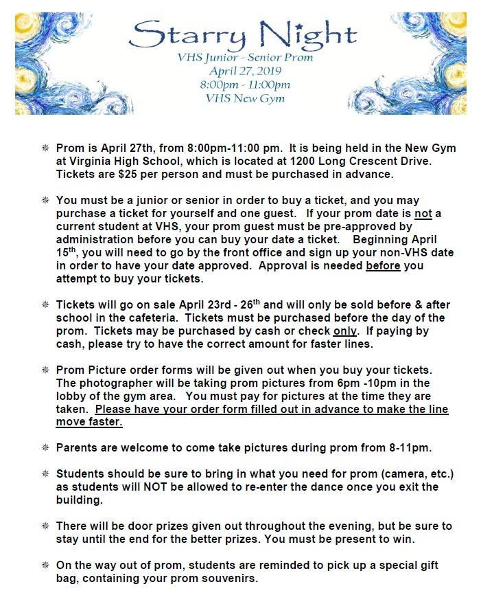 2019 Prom Information