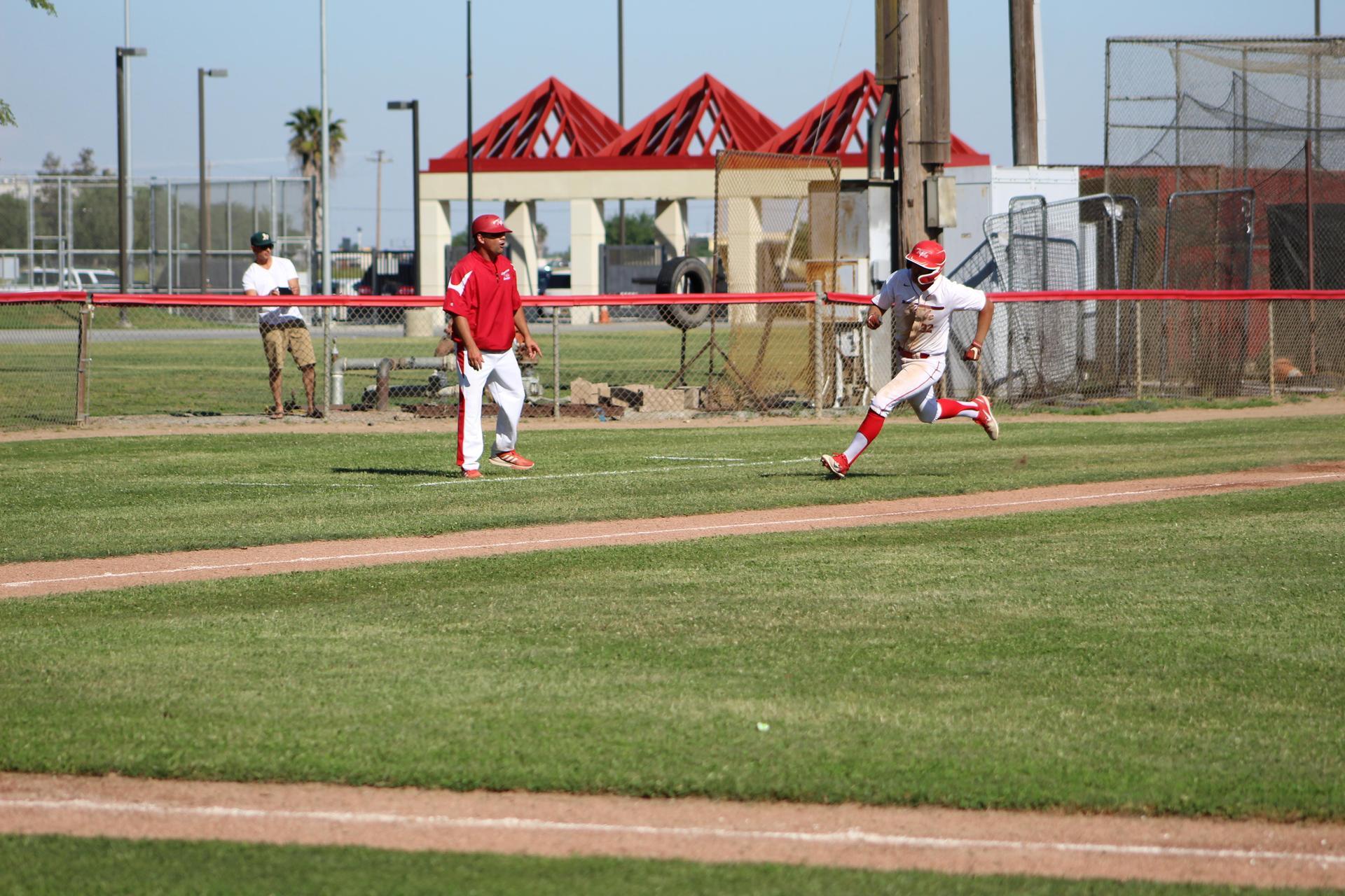 Varsity boys playing against Union