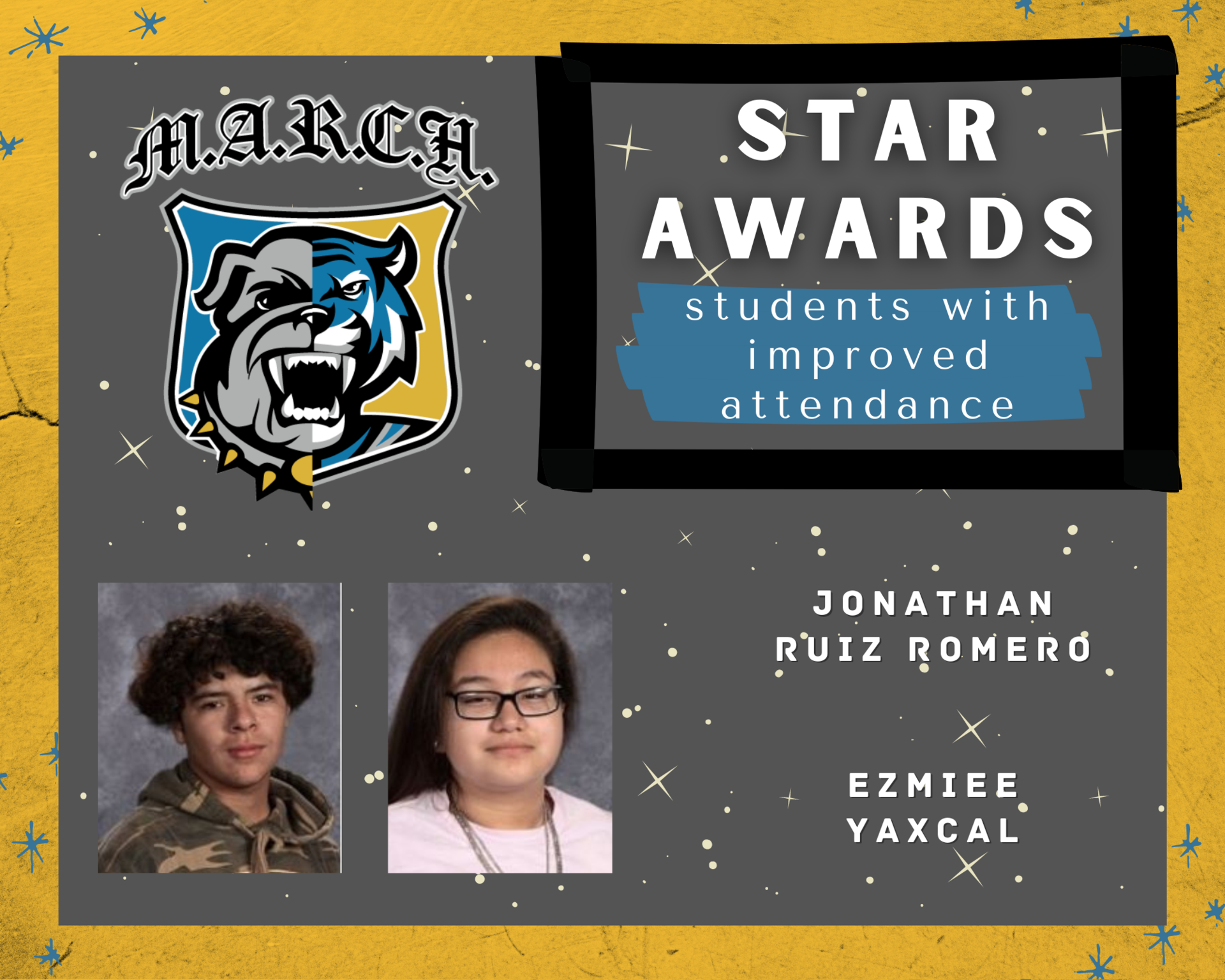Team MARCH: STAR Awards-Week 3