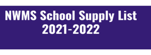 NWMS School Supply List 2021-2022 Thumbnail Image